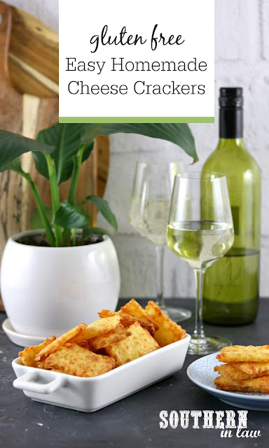 Easy Homemade Gluten Free Two Cheese Crackers Recipe - gluten free, egg free, healthy, homemade crackers, dinner party recipes, christmas, entertaining