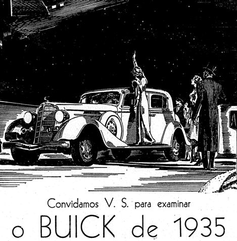 Propaganda do Buick (GM) com modelo do ano 1935.