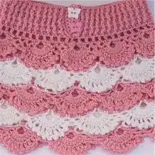 Falda para Niña a Crochet