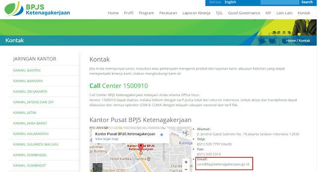 alur pembuatan email BPJS lengkap