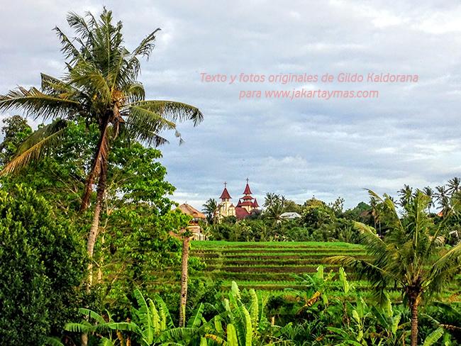 Un bonito paisaje en Bali