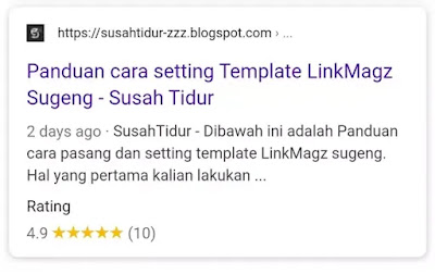 Cara memasang rating bintang pada pencarian Google