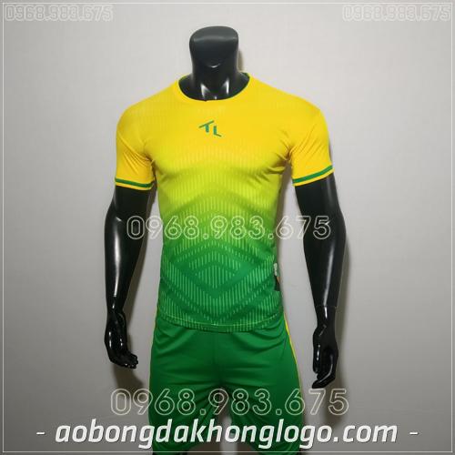 Áo bóng đá ko logo Rius màu vàng