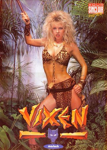 Póster videojuego Vixen en la revista Your Sinclair