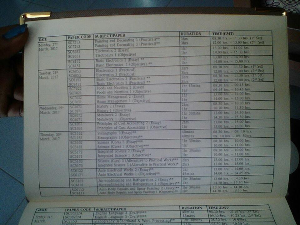 Waec Timetable Pdf