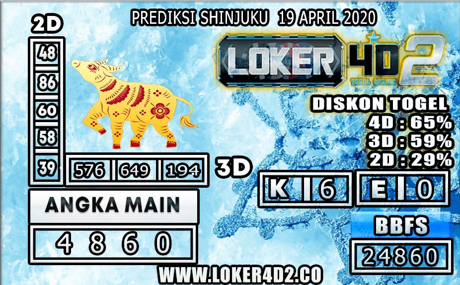 PREDIKSI TOGEL SHINJUKU LUKCY 7 LOKER4D2 19 APRIL 2020