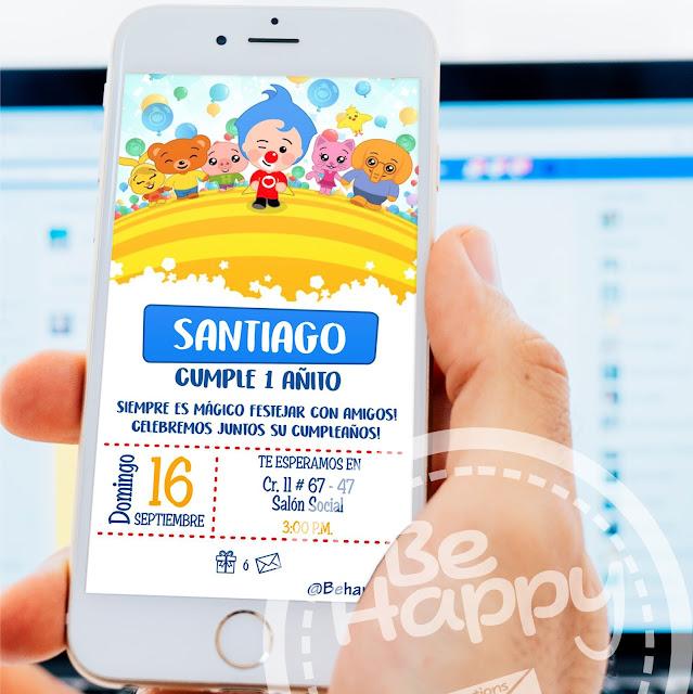 Be Happy Tarjeta De Invitación Digital