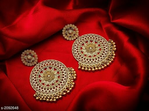 Vintage Alloy Gold Plated Earring