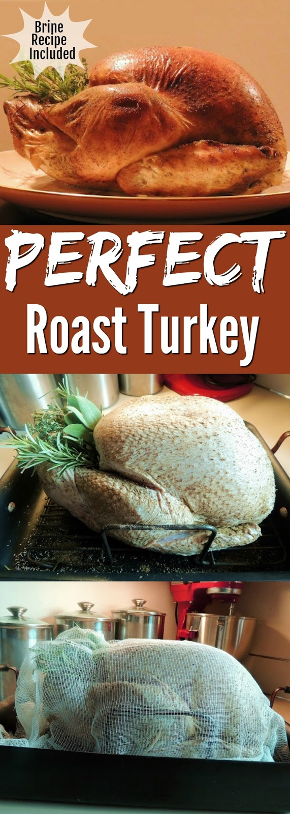 The Perfect Roast Turkey - This roast turkey recipe, including the brine, will ensure a juicy, flavorful turkey, with crispy skin every time! #turkey #holidayrecipe #thanksgiving #christmas #howtoroastturkey #keto #lowcarb #recipe | bobbiskozykitchen.com