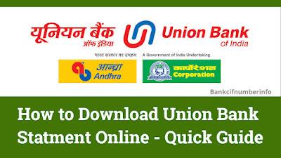 Union Bank Statement Download
