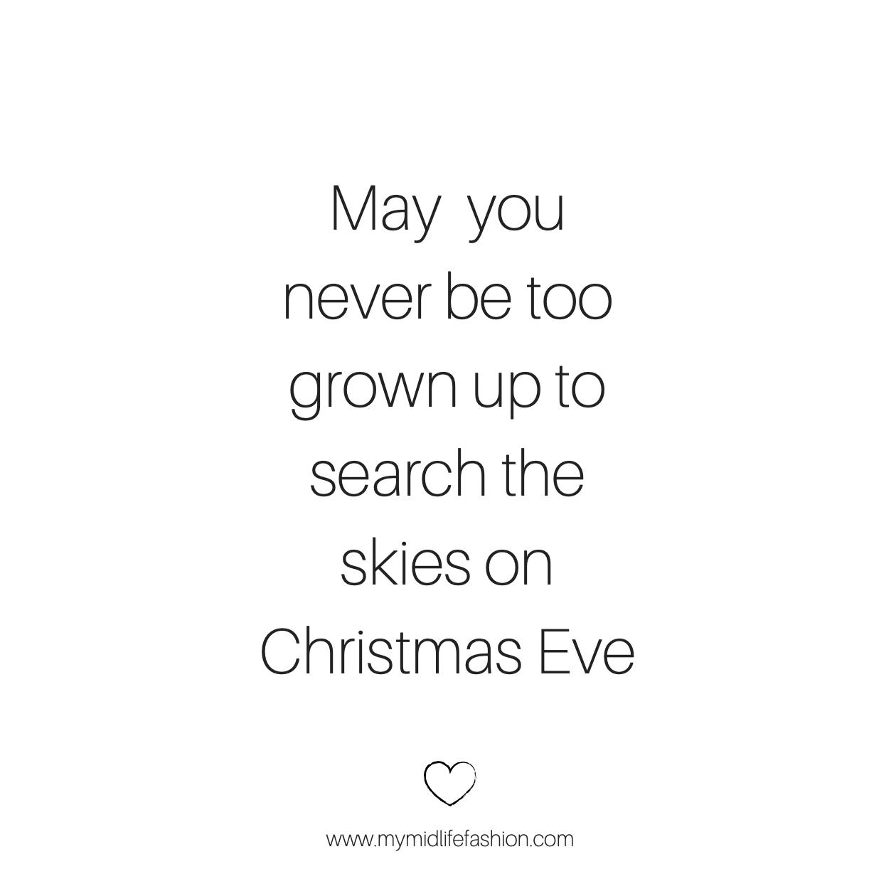 my midlife fashion, Christmas Eve wishes