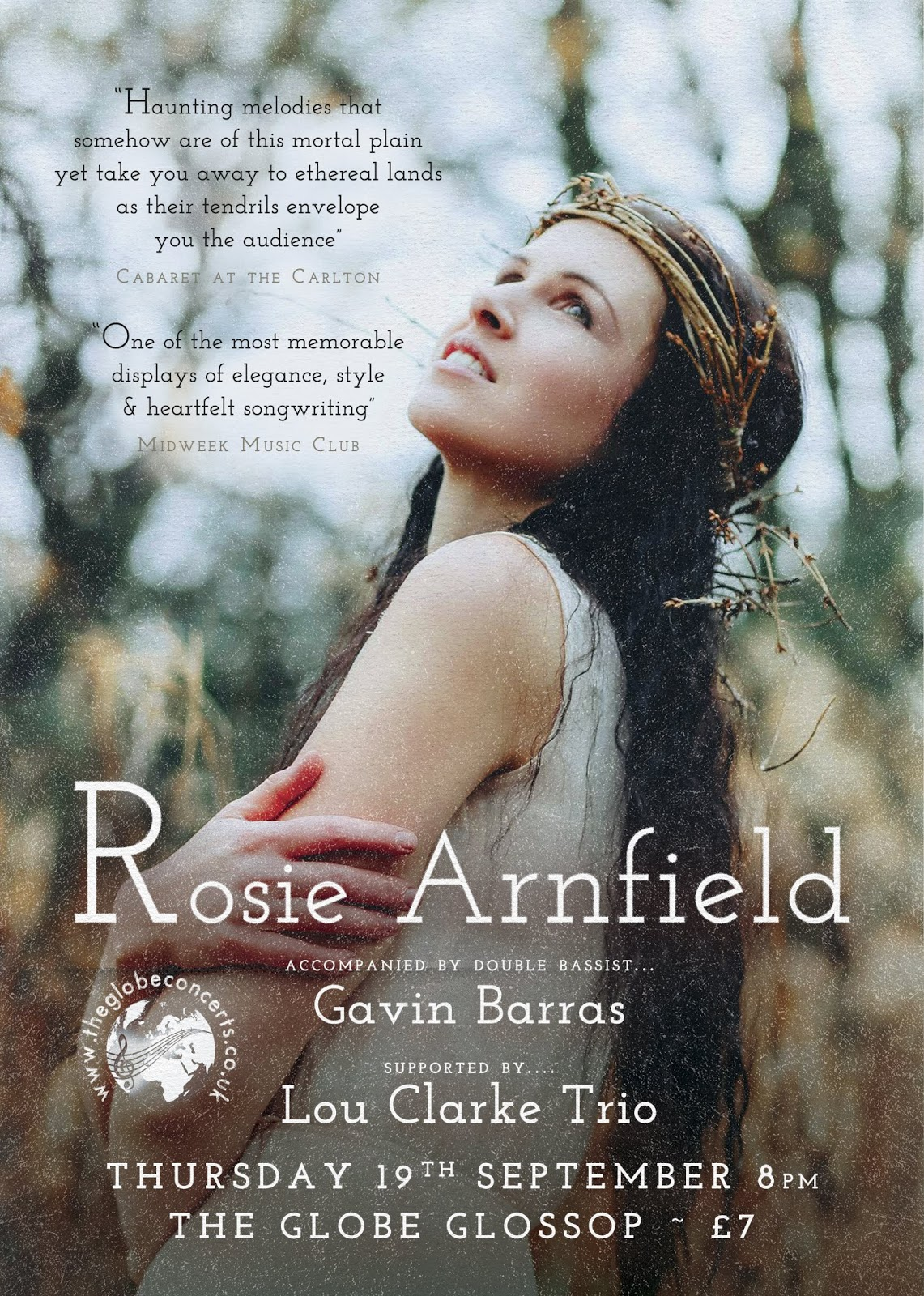 Rosie Arnfield - The Globe 19th Sept
