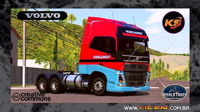 VOLVO FH16 750 - RODOJUNIOR TRANSPORTES VERMELHO