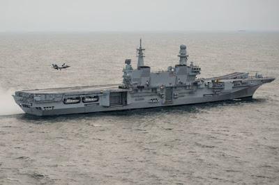 F35B sea trials Italian Navy carrier