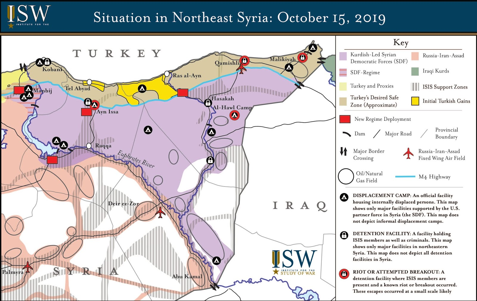 ISW Blog: Situation in Northeast Syria: October 15, 2019 Map on
