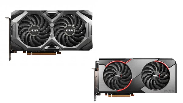 4 MSI versions of RX 5600 XT card for screen resolution of up to 1080p