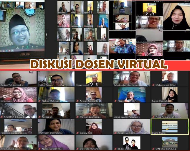 Ushuluddin UIN Bandung Gelar Diskusi Dosen Virtual Bertajuk Budaya Organisasi di PT