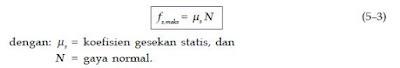 Rumus serta Contoh Soal dari Koefisien Gaya Gesek Statis dan Kinetis Dalam Dinamika Gerak Fisika