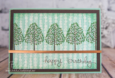 Totally Trees Birthday Card - Great for male birthdays.  Made using Stampin' Up! UK Supplies