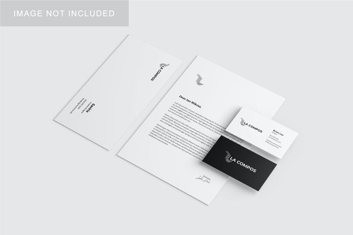 Stationery Brand Identity Mockup.