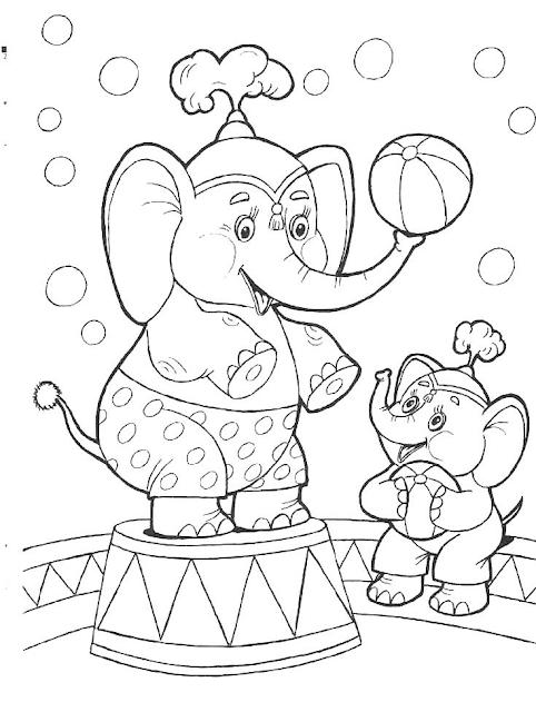 Gambar Mewarnai Circus Untuk Anak - 2