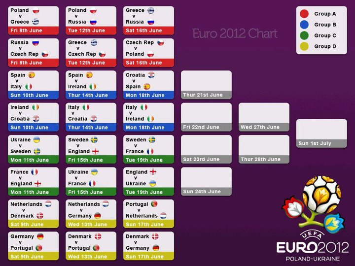 Euro 2017 Match Schedule Printable Pdf