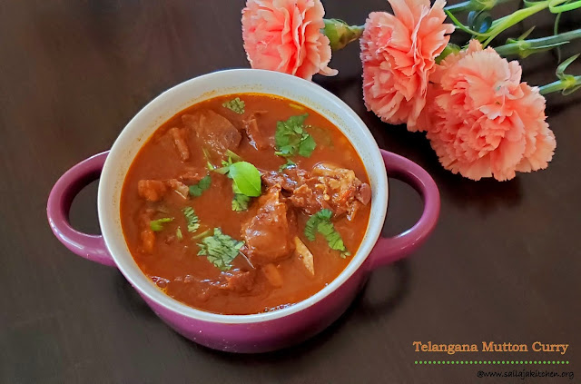 images of Telangana Style Mutton Curry / Telangana Mutton Curry / Mutton Curry