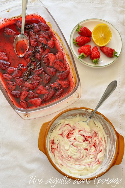 fraises-rôties-sumac-yaourt-Ottolenghi