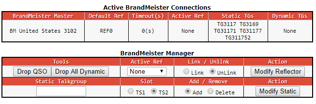 Brandmeister API and Pi Star
