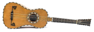 The guitar Carulli would have first played would have had five pairs of strings, similar to this one