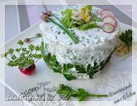 Salad cake vert