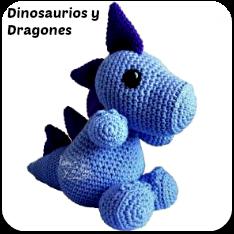 Dinosaurios y dragones amigurumis