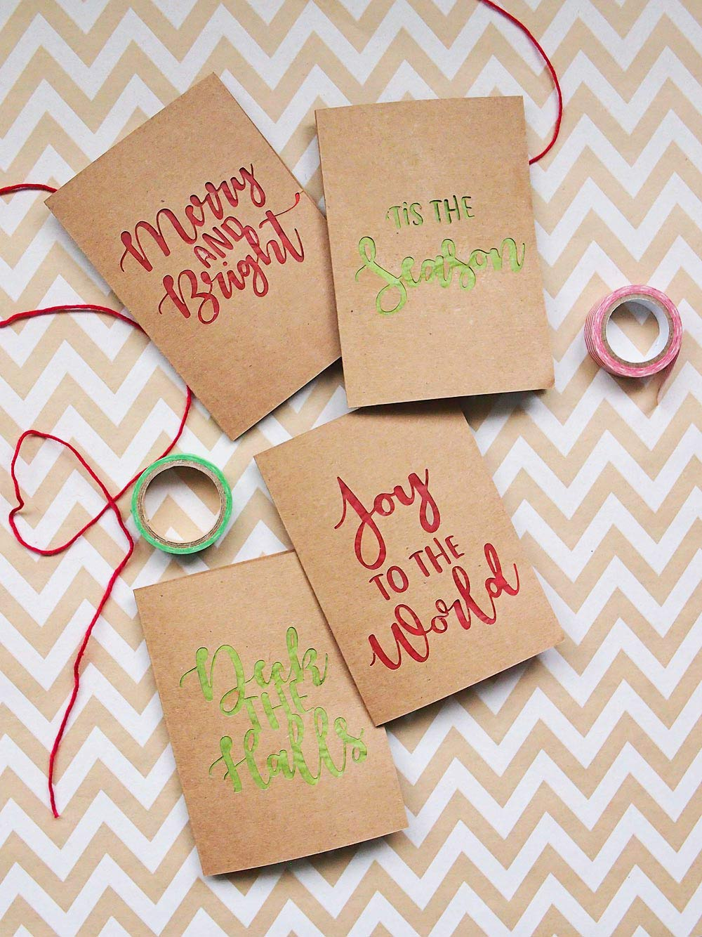 Handmade Paper Cutout Holiday Cards - DIY gift ideas