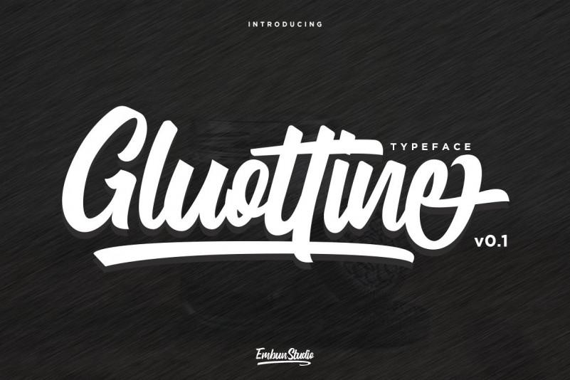 Gluottine Font - Free Calligraphy Script Typeface