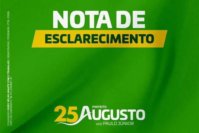 Drº Augusto Valadares publica Nota de Esclarecimento sobre tentativa de proibição de sua candidatura