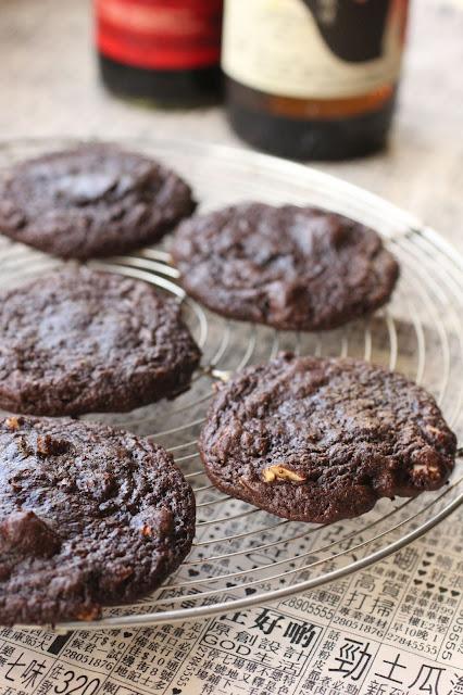 Cookies chocolat sauce soja foncee