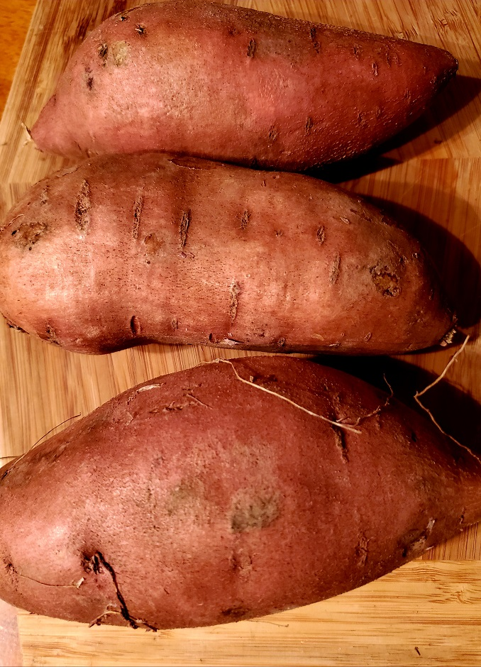 these are raw sweet potatoes