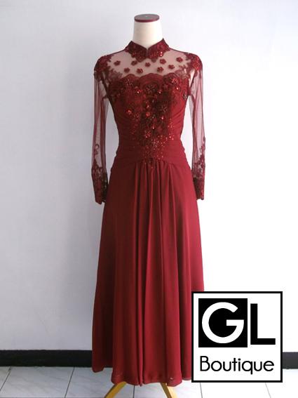 gaun pengantin ukuran besar