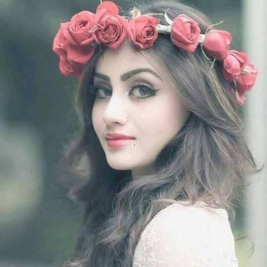 cute girls dp with flowers