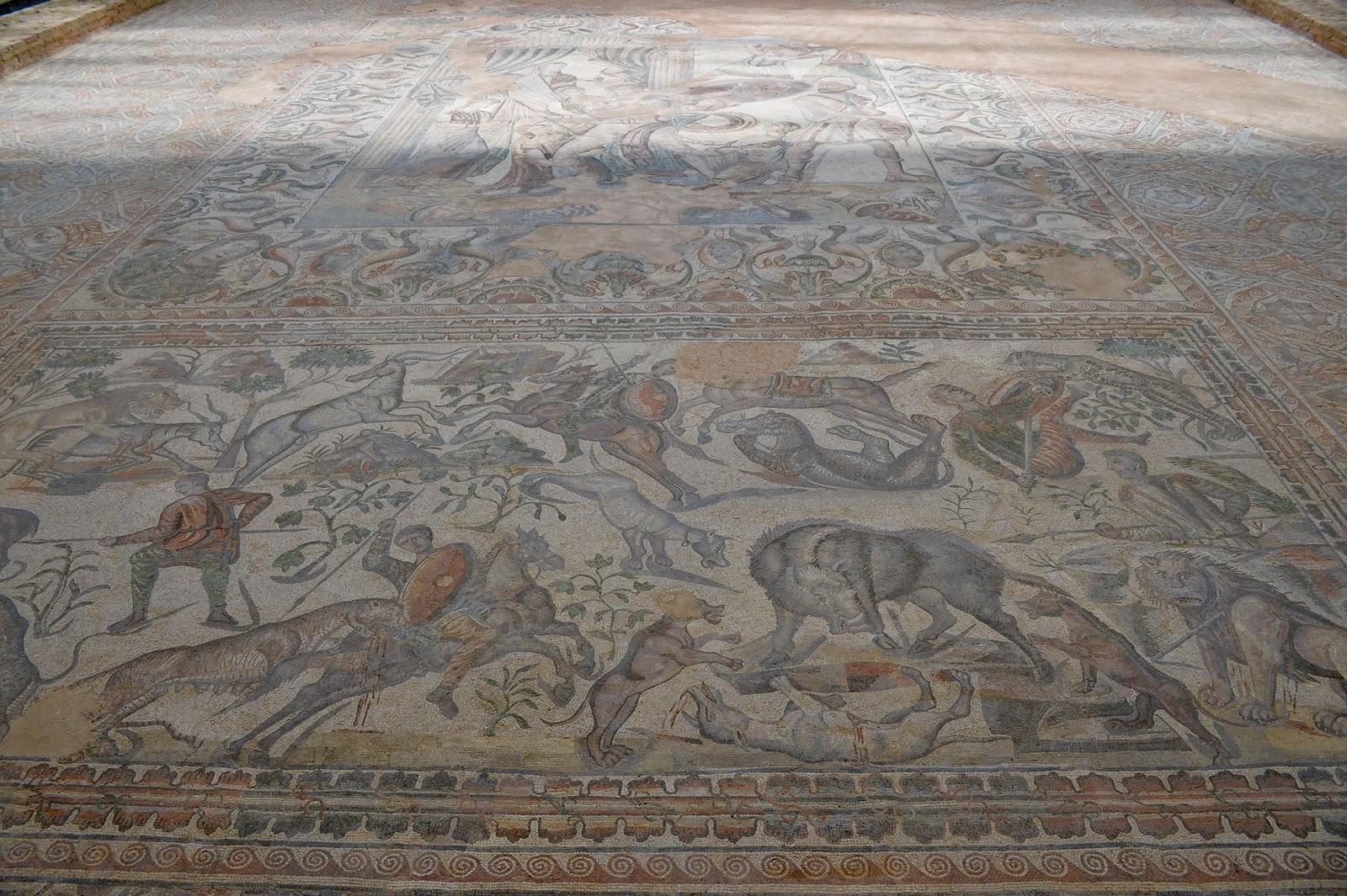 villa romana olmeda palencia mosaic roman ruins spain
