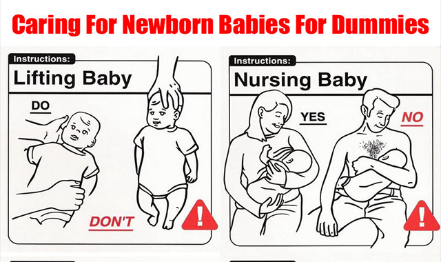 Caring For Newborn Babies For Dummies #infographic