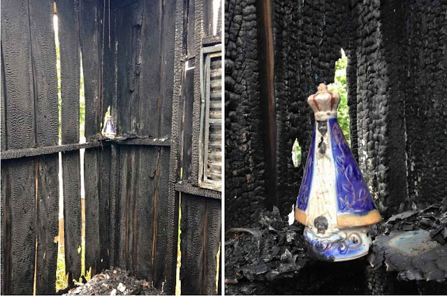 Imagem de Nossa Senhora Aparecida ficou intacta em Dracena, SP, 22 fevereiro 2016