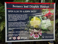 Fernery and Disply Houses welcome sign - Pukekura Park, New Plymouth, New Zealand