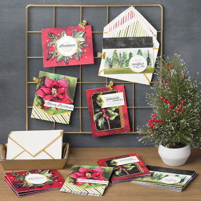 Christmas Cards made easy with the Timeless Tidings Card Kit. Get yours here - http://bit.ly/TimelessTidings