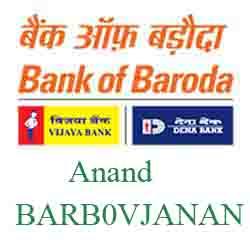 Vijaya Baroda Anand Branch Ahmedabad New IFSC, MICR