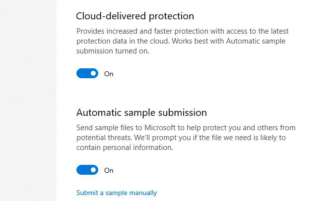 defender cloud delivered protection