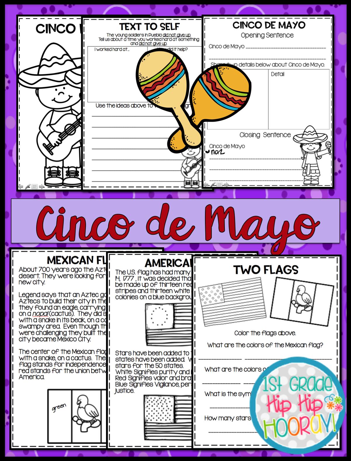 1st Grade Hip Hip Hooray Cinco De Mayo Per Pencil Or