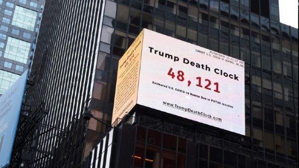 """""""Reloj de la muerte"""" evidencia gestión de Trump ante Covid-19"""