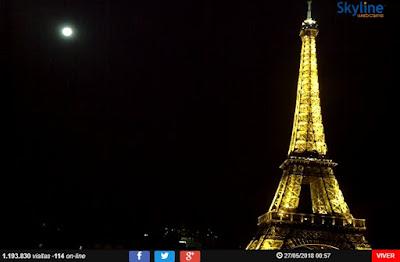 câmera panoramica da torre eiffel