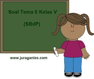 Soal Tematik Kelas 5 Tema 8 Mapel SBdP dan Kunci Jawaban
